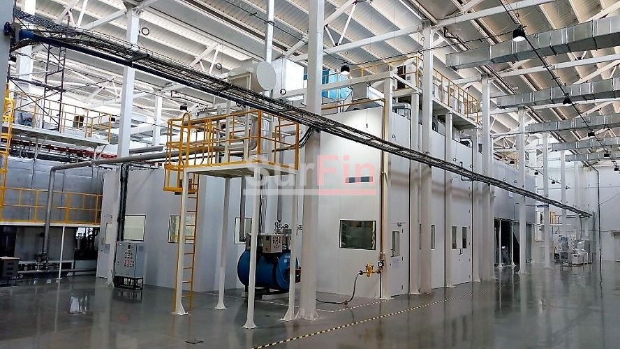 Automatic Powder Coating System Powder Booth Cyclone Booth